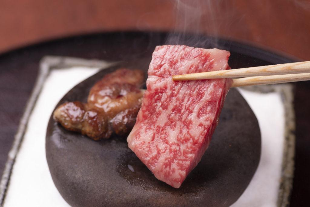 三田牛のサーロインの石焼