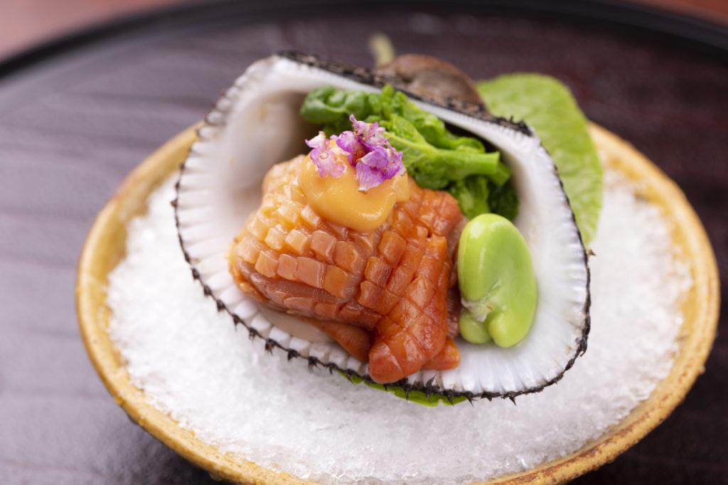 赤貝と菜の花の酢味噌和え